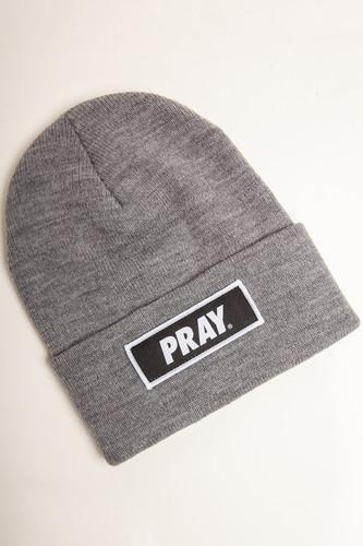 Шапка MISTER TEE Pray Beanie (Heather Grey)