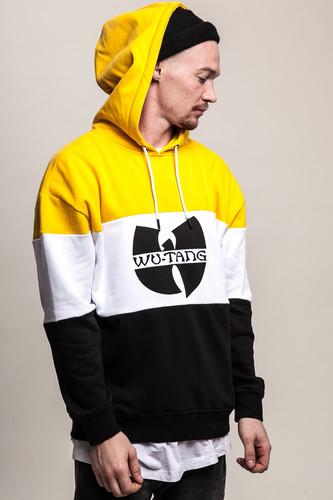 цена Толстовка WU-WEAR Block Hoody (Black/White/Yellow, XL) в интернет-магазинах