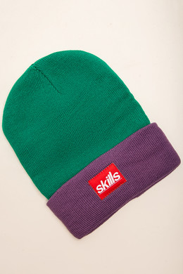 Шапка SKILLS Sport Beanie Light-Green-Purple фото