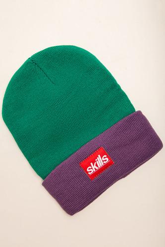 Шапка SKILLS Sport Beanie (Light-Green-Purple) цена