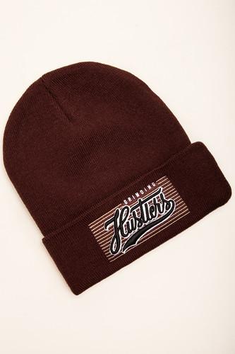 Шапка TRUESPIN Plain Hustler Beanie (Brown) шапка truespin abc fw15 black black w