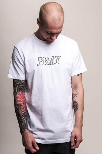 Футболка MISTER TEE Pray Hands Tee (White, 2XL) футболка mister tee cream skull tee white 2xl