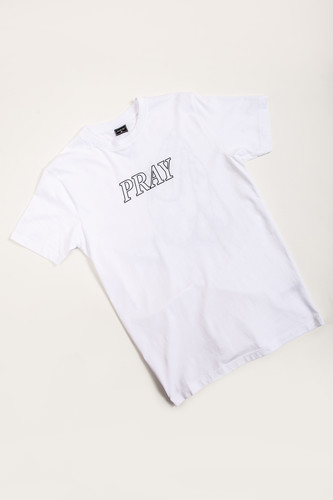 Футболка MISTER TEE Pray Hands Tee White фото 7