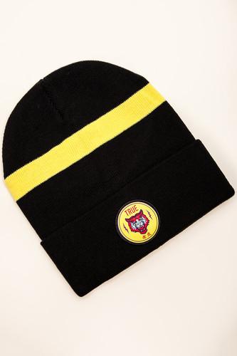 цена Шапка TRUESPIN Tiger Classic Beanie (Navy/Yellow) онлайн в 2017 году