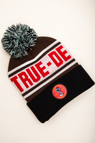 цена на Шапка TRUESPIN Cobra Pom Beanie (Brown/White/Black)