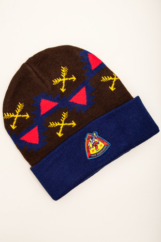 Шапка TRUESPIN Native Wisdom Classic Beanie (Navy/Brown) шапка truespin native patch fw15 heahter grey