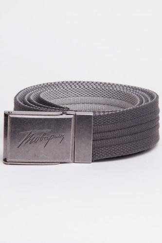 Ремень ЗАПОРОЖЕЦ Webbing Belt Товарищ (Grey/Lt.Grey, O/S)