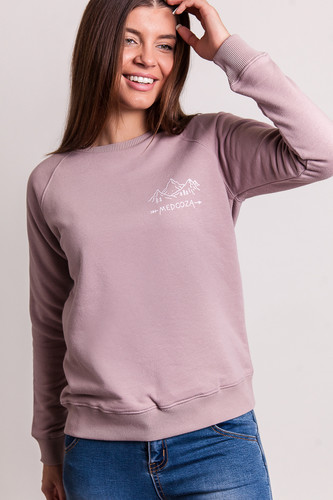 Толстовка MEDOOZA Горы женская (Грязно-Розовый, XS) чехлы для дивана томдом дилансо грязно розовый