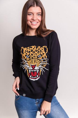 Толстовка MEDOOZA Leopard женская (Черный, S)