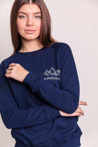 Толстовка MEDOOZA Горы SW-43W женская (Темно-Синий, M) цены онлайн