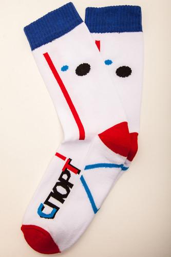 Носки ЗАПОРОЖЕЦ Спорт махровые многоцветные (Белый, O/S)
