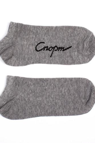 Носки ЗАПОРОЖЕЦ Спорт короткие женские (Серый Меланж, O/S)