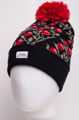 Шапка с помпоном ЗАПОРОЖЕЦ Клюква (Black/Multi) шапка humor stomp hood multi