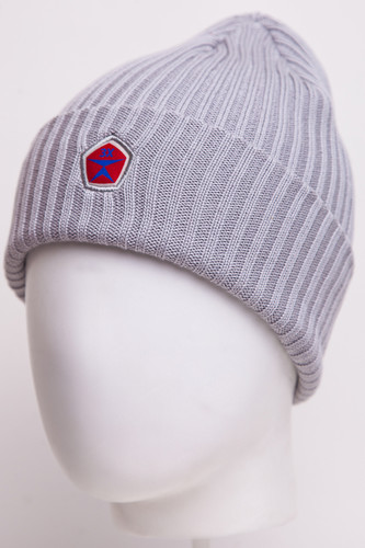 Шапка ЗАПОРОЖЕЦ Лого (Grey) шапка с помпоном запорожец камо grey orange