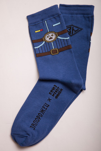 Носки ЗАПОРОЖЕЦ Тайна Третьей Планеты Скафандр-2 (Джинс, O/S) носки запорожец тайна третьей планеты робот женские белый o s