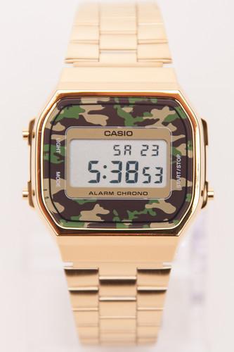 Часы CASIO A-168WEGC-3E 1275/3298 (Золотой/Зеленый) все цены