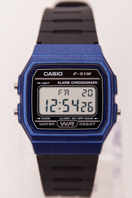 Часы CASIO F-91WM-2A Черный/Синий фото