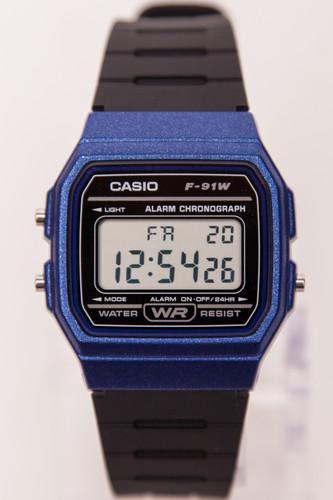 Часы CASIO F-91WM-2A (Черный/Синий) casio f 91wm 7a