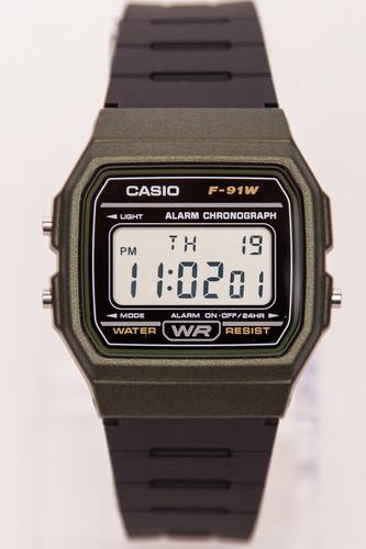 Часы CASIO F-91WM-3A (Черный/Хаки) casio f 91wm 7a