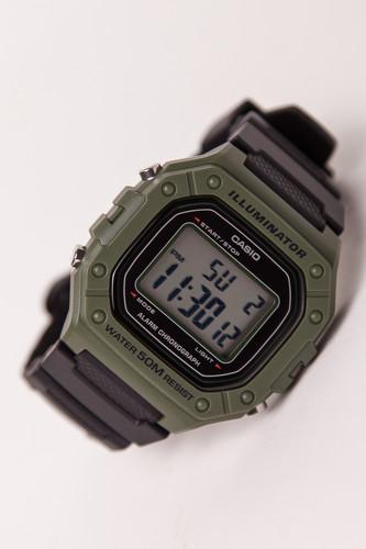 лучшая цена Часы CASIO W-218H-3A (Черный)
