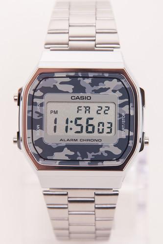 Часы CASIO A-168WEC-1E 1275/3298 (Хром/Серый-1E) наручные часы casio a 168wec 1e
