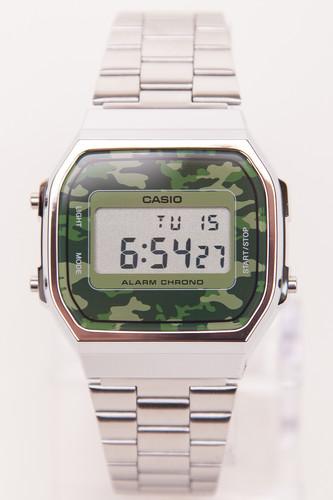 Часы CASIO A-168WEC-3E 1275/3298 (Хром/Зеленый-3E) цена и фото