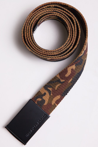 Ремень URBAN CLASSICS Long Canvas Belt (Wood Camo, 140 см)