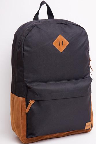 Рюкзак URBAN CLASSICS Leather Imitation Backpack (Black/Brown) цена в Москве и Питере