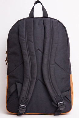 Рюкзак URBAN CLASSICS Leather Imitation Backpack Black/Brown фото 2