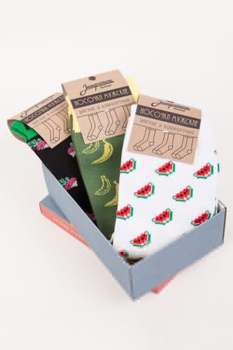 Носки ЗАПОРОЖЕЦ Комплект Тропический-19 (Разноцветный-3 пары, O/S) размер носков s
