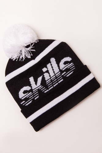 Шапка SKILLS Stripedhead Pom (Black/White) цена и фото