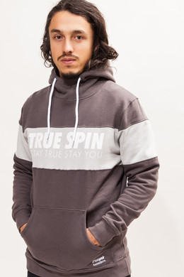 Толстовка TRUESPIN Wide Stripes Hoodie #1 Tornado/Grey Violet фото