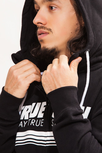 Толстовка TRUESPIN Stripes Zip Hoodie Deep Black фото 7