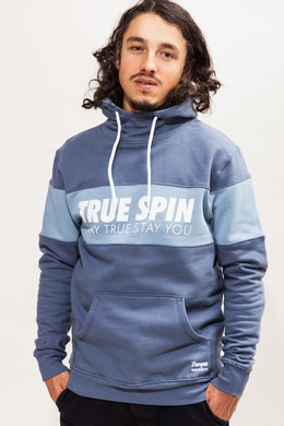 Толстовка TRUESPIN Wide Stripes Hoodie #3 Blue Shadow/Bering Sea фото