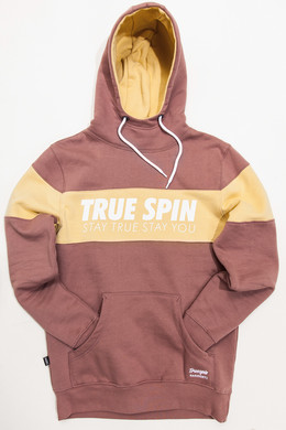 Толстовка TRUESPIN Wide Stripes Hoodie #2 Twilight Mauve/Parsnip фото