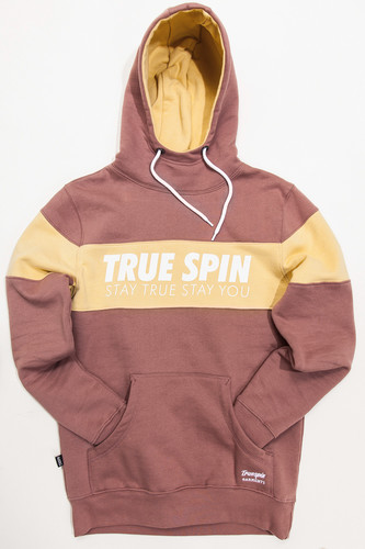 Толстовка TRUESPIN Wide Stripes Hoodie #2 Twilight Mauve/Parsnip фото 4