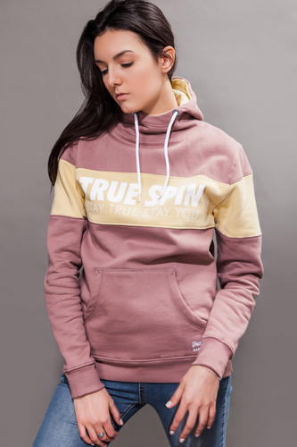 Толстовка TRUESPIN Wide Stripes Hoodie #2 Twilight Mauve/Parsnip фото 5