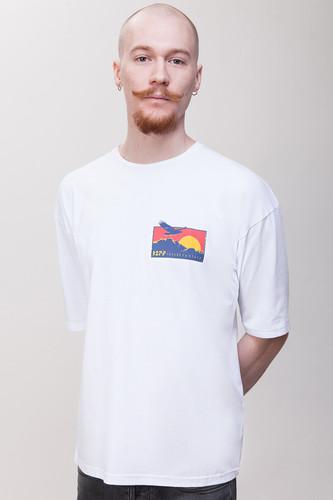 Футболка ЗАРЯ Оверсайз Орел T22 (Белый, S)