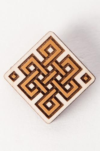 Значок SWAMI Knot (Brown) swami sukhabodhananda shiva sutras