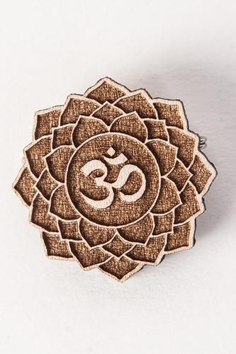 Значок SWAMI Lotus Om (Natural) swami sukhabodhananda shiva sutras