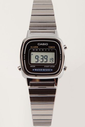 Часы CASIO LA670WEA-1E 3191 (Хром/Черный-1E) цена и фото
