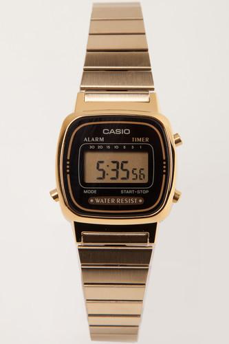 Часы CASIO LA670WEGA-1E 3191 (Золотой/Черный-1E) цена и фото
