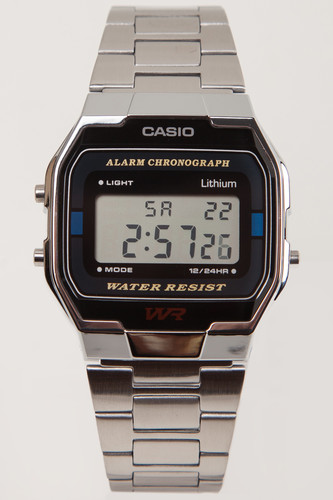 Часы CASIO A-163WA-1Q 593 (Хром/Черный-1Q) все цены
