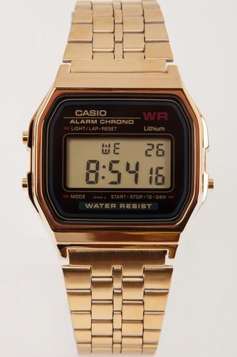 Часы CASIO A-159WGEA-1E 587/593 (Золотой/Черный-1E) casio a 168wec 1e