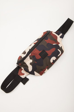 Сумка URBAN CLASSICS Hip Bag 2-Pack Black/Rustycamo фото