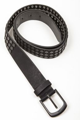 Ремень URBAN CLASSICS Rivet Belt Black фото