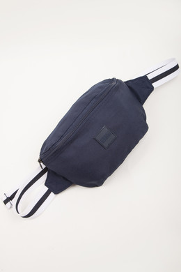 Сумка URBAN CLASSICS Hip Bag Striped Belt Navy/White/Navy фото