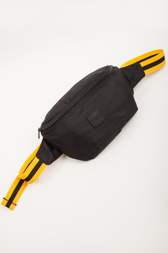 Сумка URBAN CLASSICS Hip Bag Striped Belt (Black/Yellow/Black) цена и фото