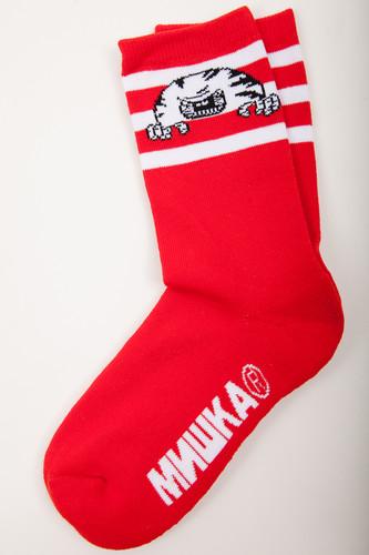 лучшая цена Носки MISHKA Printed Socks MAW183303F75 (Red, O/S)