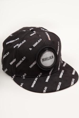 Бейсболка MISHKA Printed Cap MAW183206F99 (Black, O/S)